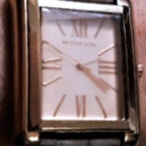 Michael Kors Rose Gold Square Roman Numeral Watch